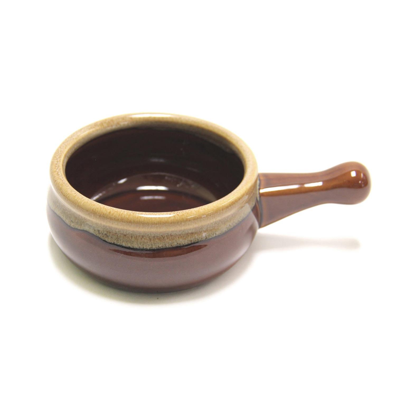 En Céramique Bol De L'oignon À Soupe Brune Oz 12 fg67ymIbYv