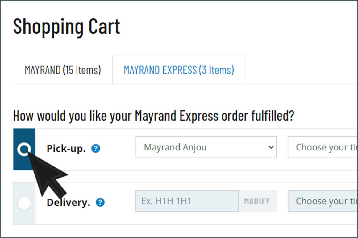 Mayrand Express : a flexible online service